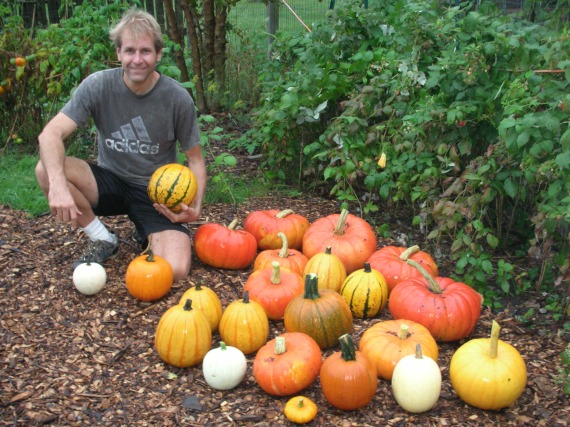 Mark Straka and his pumpkins